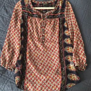 Like New Lucky Brand Boho Top
